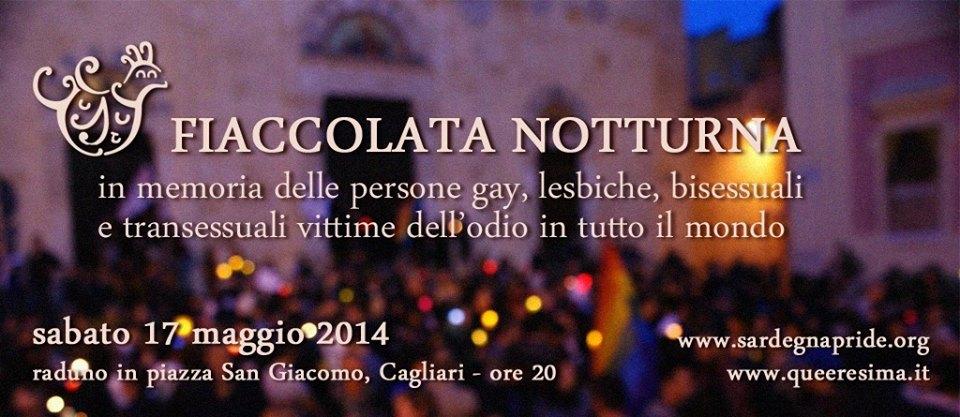 Fiaccolata in memoria delle vittime dell'omofobia