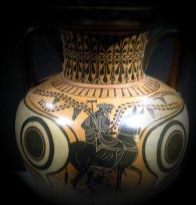 Efesto torna sull'Olimpo (anfora attica a figure nere, 520 a.C.).